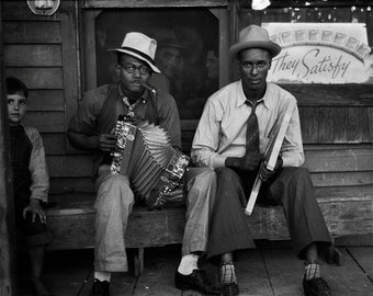 African American Musicians Photo, Black Musicians In Louisiana, Photography Print, Black and White, Wall Art, Home Decor, Blues Musicians