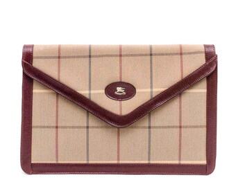 Vintage Burberrys dark red envelope shoulder bag