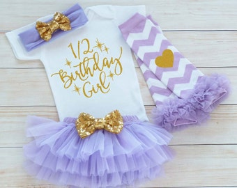 Half Birthday Outfit Girl, Cake Smash Shirt, Six Month Birthday Outfit, Half Birthday Girl Bodysuit, 1/2 Birthday Girl Outfit, 6 Month Girl
