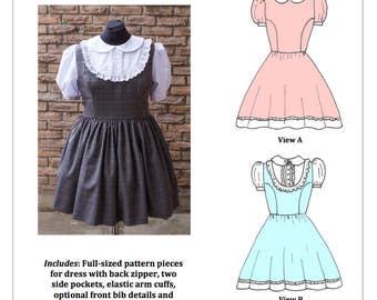 PDF L-3X Lolita Sewing Pattern: #1436 Susie Q OP