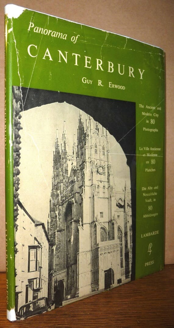 Panorama of Canterbury 1963 by Guy R. Erwood Vintage Travel Tourism England Photography Anglican Church Cathedral