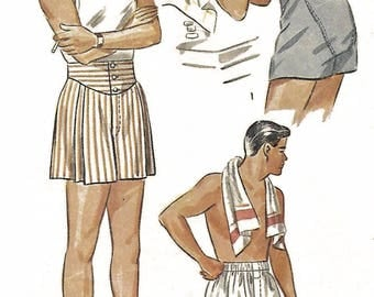 "Vintage 1940's Sewing Pattern Men's Jockey Shorts Boxer Shorts W 32"" H 35"" WWII"