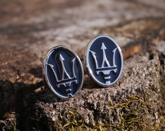 Men's Maserati cufflinks - cars