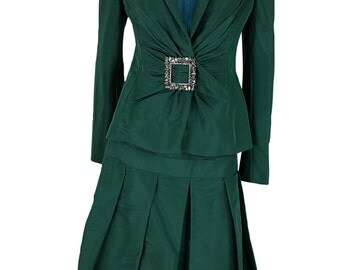 BRUCE OLDFIELD COUTURE Vintage Skirt and Jacket Set (12)