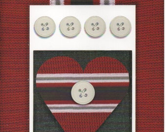 Red Navy Stripes Cardstock Frame My Mind's Eye This & That Scrapbook  Embellishments Cardmaking Crafts