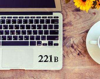 Sherlock Holmes decal, 221B decal for laptop, car, macbook, wall 92