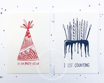 Birthday postcard set 2ST