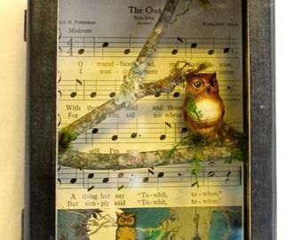 Vintage Owl Shadowbox