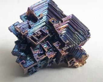 70 Gram Purple And Blue Bismuth Crystal