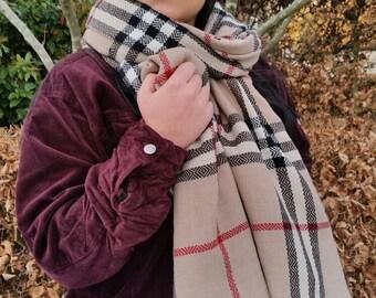 Outlander Tartan scarf, beige