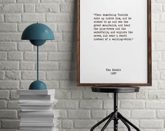 J.R.R. Tolkien, Book Quotes, Inspiring Quotes, Minimalist Art, Vintage Art, Home Decor,  Literary Art, Library Art, Children's Book Quotes