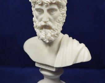 Zeus sculpture Ancient Greek bust king of all gods statue