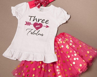 3rd birthday girl outfit, third birthday shirt - 3rd birthday outfit