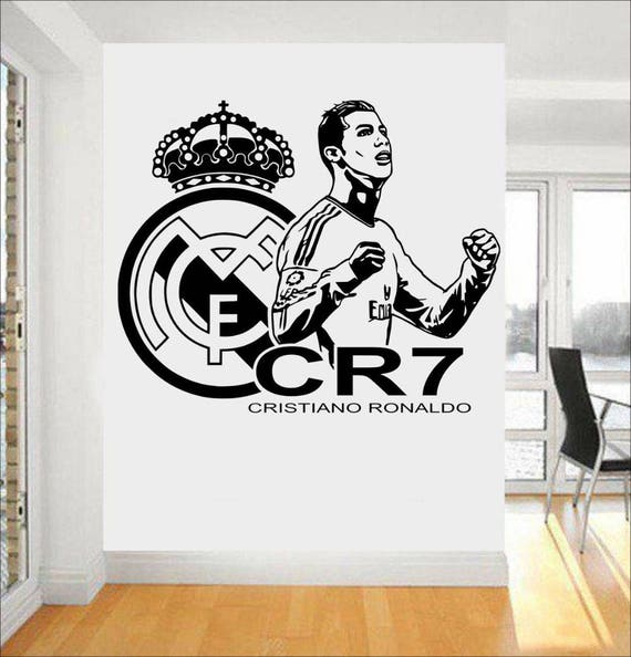 Cristiano Ronaldo Wall Decal - Real Madrid Wall Sticker -CR7 Decal - Kids Room Wall sticker - Home Decor - Gifts for Him - Man cave ideas