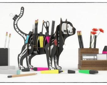 GATO ESQUELETO Regalo para Hombre Mujer Esposa Novios Puzzle 3D de cartón reciclado estanteria rompecabezas Regalo matrimonio Gato carton