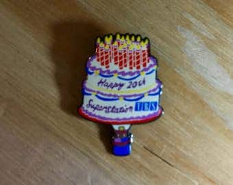 TBS PIN: Happy 20th Superstation TBS Enamel Pin - Great Gift!