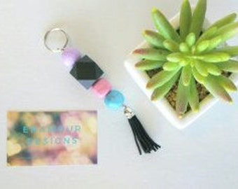 key chain. key tag, key ring, handmade key chain, polymer clay key chain, lanyard