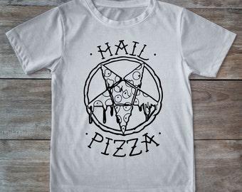 Hail pizza shirt, pizza shirt, pizza lover gift, tattoo shirt, classic tattoo art, old school shirt, hipster gift, gift tattoo lover