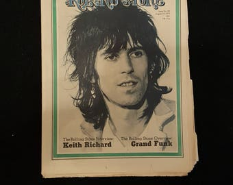 Rolling Stone Magazine #89 19/8-1971 Keith Richard.