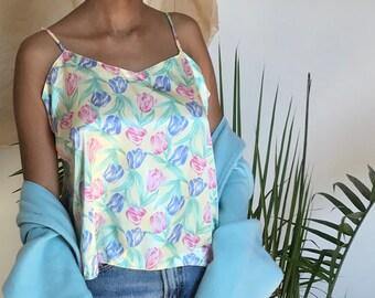 Vintage Silk Cami | Floral Tank Top | Lingerie