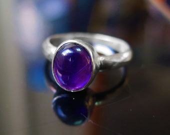 Amethyst Ring - Amethyst silver - February Birthstone - Birthstone Jewelry - Amethyst Jewelry - Silver Ring - Sterling Silver - Purple Ring