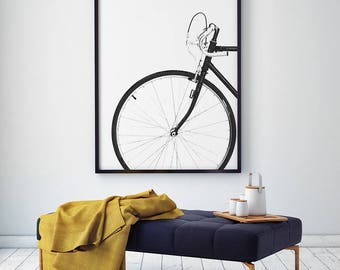 Cycling poster, bicycle poster, bike print, bicycle wall art, bicycle art, bicycle art posters, cyclist gift, bike gift, printable wall art