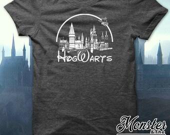 Hogwarts Disney Logo Ringspun T-Shirt