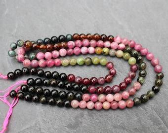 Tourmaline Beads, Round, 6mm - Half or Full Strand