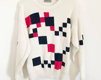 90s Geometric Sweater