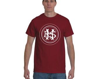 Hudson River State Hospital, HRSH Initials T-Shirt, Kirkbride Tee Shirt, New York Insane Asylum, Urban Explorer, Abandoned Tshirt, White Ink