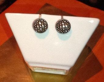 Vintage small screw-on earrings