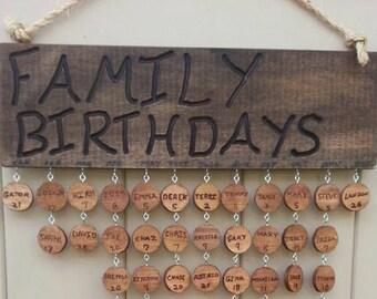 Handmade Family and Friends Birthday/Anniversary sign