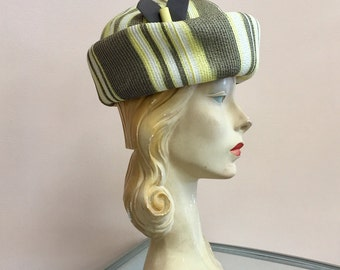 Lilly Dache Debs straw vintage 1960's HAT