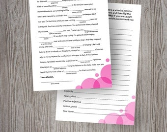 Baby Shower Mad Libs (Girl)