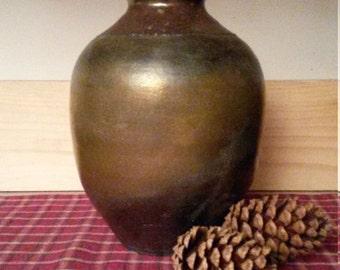 Raku vase, pottery vase, Raku pottery vase
