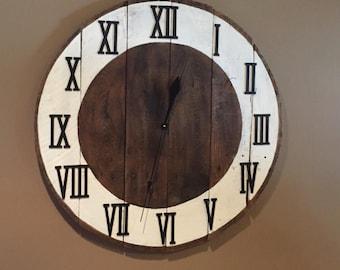 Roman Numeral Clock Etsy