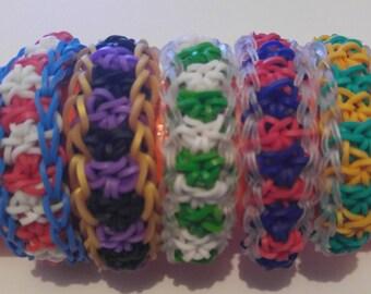 Team Spirit (football themed) - Rainbow Loom Bracelet