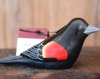 Red-winged Blackbird Balsa Wood Ornament