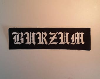 Burzum patch black metal