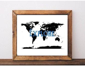 Explore Map Print