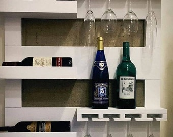 Decorative Wall Wine Rack wall wine rack | etsy
