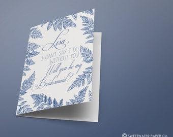 Personalized I can't say I do, with you card + Envelope - Bridesmaid Proposal - By my bridesmaid - Invitation - Wedding Card - Bridal Gift