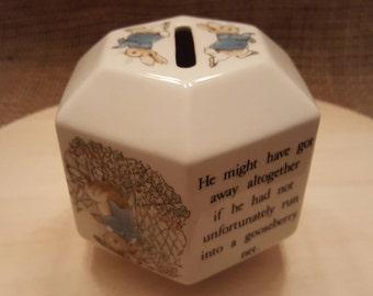 Wedgwood Peter Rabbit Hexagon Money Box