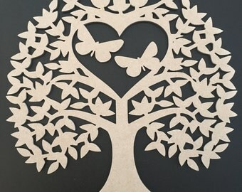 MDF Butterfly Tree Perfect for Family Tree Plaques and Crafting