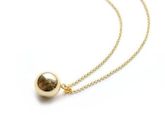 "Pregnancy's Bola - Harmony ball Moon ""Judith"" Belcher chain 18 k gold"