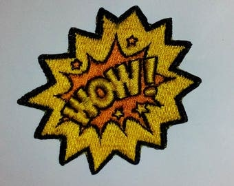 WOW! iron on Patch