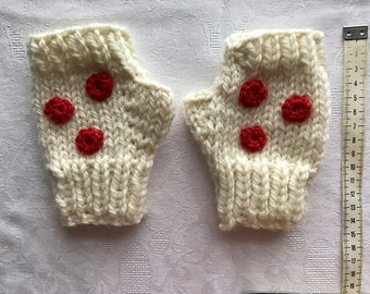 Child/Teen Handknitted Fingerless Pure Wool Mitts