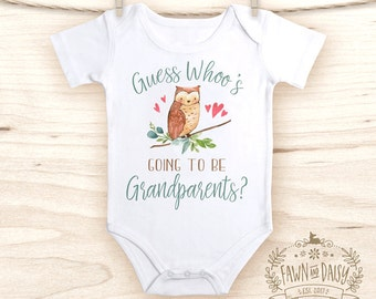Guess What Onesie®  - Pregnancy Announcement - Pregnancy Reveal to Grandparents - Baby Announcement  Onesie®