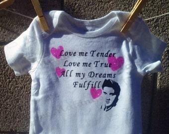 Love Me Tender - Elvis Presley Baby Onesie