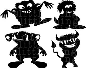 Monsters SVG, boy, scary, cute, cool, silhouette